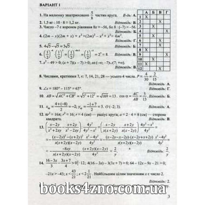 гдз до дпа 2019 математика 9 клас істер